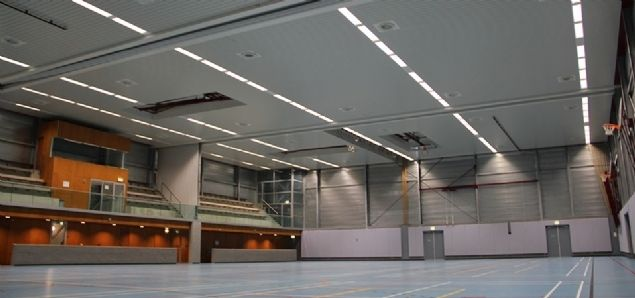 Sporthal Hogeveld heeft de top in verlichting bereikt